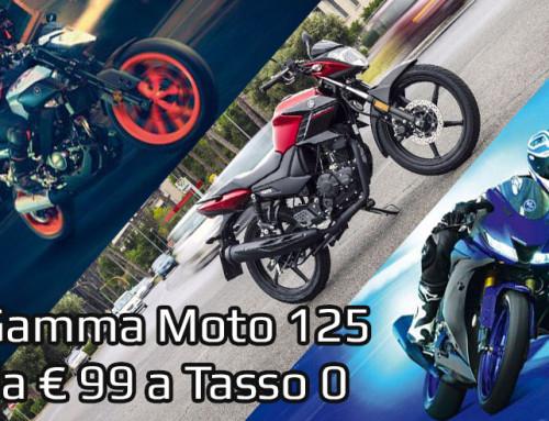 Moto 125 da € 99,00 a Tasso 0